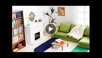 DIY Dollhouse (Original) Miniature Living Room Set Tutorial | Dolls, Nendoroid