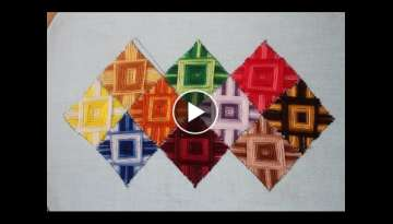 Hand Embroidery Designs | Canvaswork stitch | Stitch and Flower-137