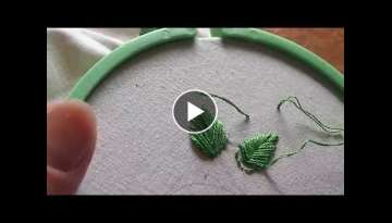 Learn Hand Embroidery with Me: Stitches, Part 3 (fishbone stitch and french knot)