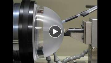 Diamond Tool Cutting on CNC Lathe | Hypnotic Video