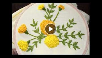 Hand Embroidery Designs | Stump work | Stitch and Flower-120 - YouTube
