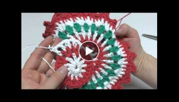 How To Crochet the Merry Berry Dishcloth