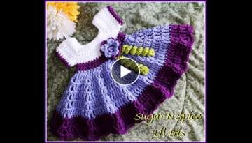 Crochet Baby Dress/Sugar N Spice tutorial - YouTube
