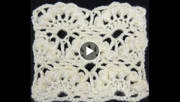 Crochet : Punto Abanico Puff en Relieve
