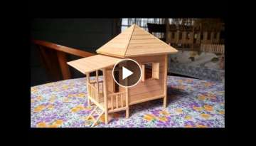 Popsicle Stick Miniature House - Beach House (Custom Made)