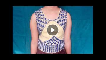 Making DESIGNER BLOUSE with knitting