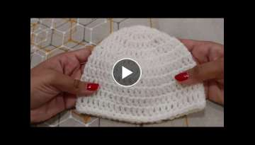Easy & Fast Crochet Baby Hat (Basic)