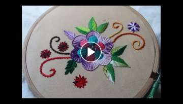 Hand Embroidery Designs | Basic design tutorial | Stitch and Flower-135