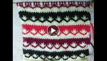 Easy Multicolor Knitting Pattern