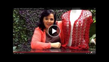 TEJE CHALECO ROJO (KNITTED VEST WITH ENGLISH SUBTITLES) - Crochet facil y rapido