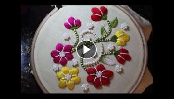 Hand Embroidery Designs | Puff bullion knot stitch | Stitch and Flower-110