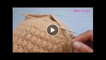 V- Shape Neck Knitting | Double Border | Sui se bnd hone wala neck