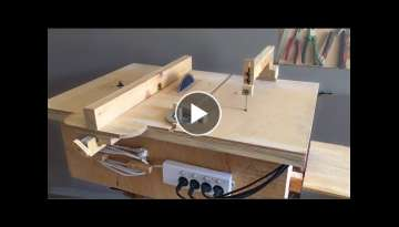 Homemade 4 in 1 Workshop (table saw, router table, disc sander jigsaw table) 4 in 1Çalışma İs...