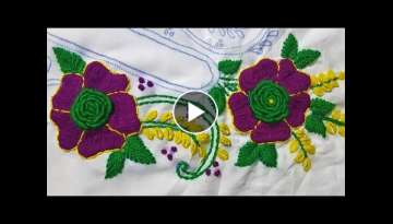 Hand Embroidery flower Brazilian Stitch