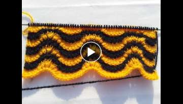 Double colour design for sweater / cardigan | HINDI | EASY KNITTING