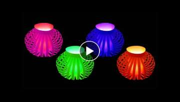 How to Make Fancy Paper Lantern Ball (Christmas Crafts) : HD