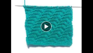 Single Colour Knitting Pattern for Sweater | Hindi