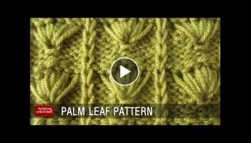 Palm Leaf Knitting pattern