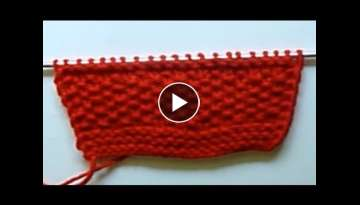 WATCH How To KNIT Simple Reversible Scarf With Knit & Purl Stitches