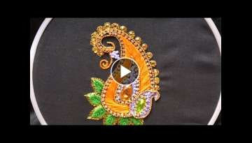 Hand embroidery .Aari style embroidery for ghagras, dresses, sarees and blouses.