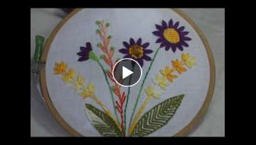 Hand Embroidery Designs | Basic embroidery design | Stitch and Flower