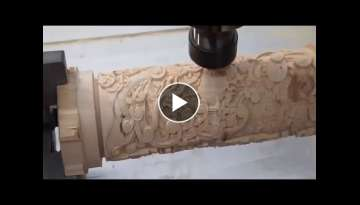 Oddly Satisfying Video Heavy Large Wood Lathe Work - Amazing Lathe CNC Technology