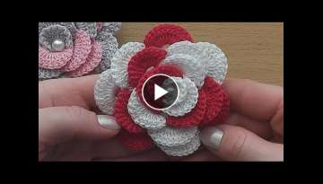 Crochet Flower Rose VERY EASY Tutorial