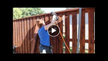 Building a Board on Board Cedar Fence - Part 2