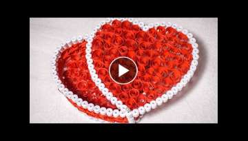 Quilling Gift Box Ideas| DIY Heart for Valentine | HandiWorks #53