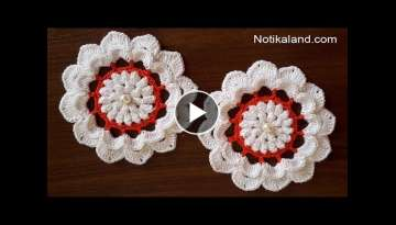Crochet flower Tutorial EASY