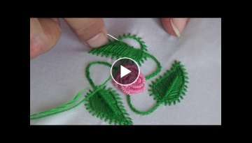 Hand Embroidery: Leaf stitch