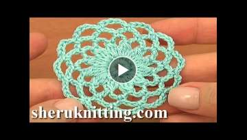 Crochet Round Motif Tutorial 10 Part 1 of 2 Crochet Circle Pattern