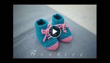Knitting Cute and Easy Booties for New-Born