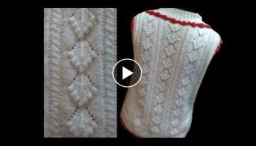 Cardigan / Sweater Design with bobbles Design No#57 in Hindi Knitting