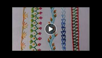 Hand embroidery. embroidery stitches tutorial for beginners. Part-2. decorative stitches.