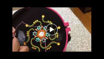 Hand Embroidery easy stitch how to make Mirror stitch