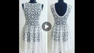 vestido crochet boda primavera how to (subtittles in several lenguage)