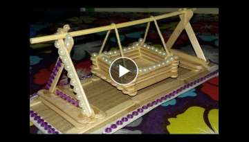 Making a toy Baby Swing with Popsicle Sticks(15)
